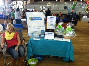 Action Home Care's Rebecca Barnes representing the agency at the Okeechobee County Health and Safety Expo.